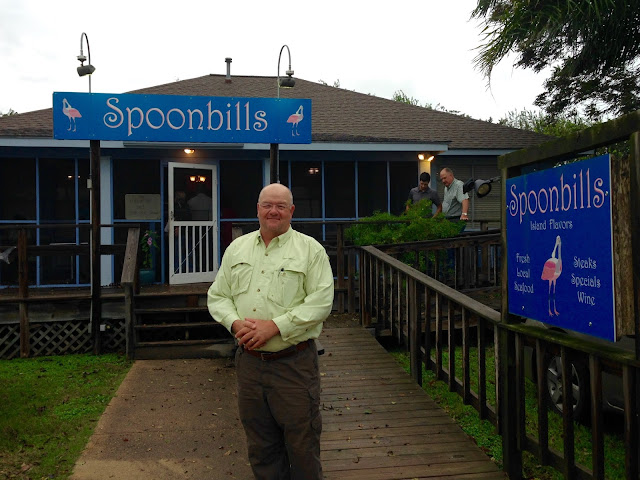 Outside Spoonbills Restaurant on a Friday Evening-Matagorda, Texas
