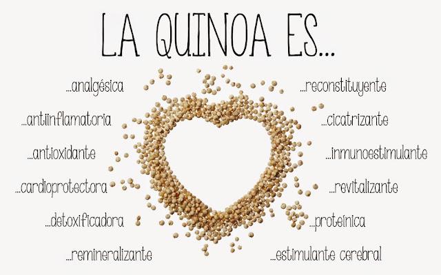 Recetas, beneficios y propiedades de la quinoa