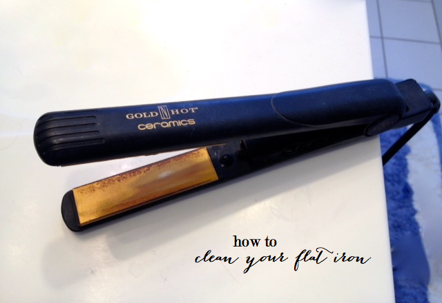 how to clean your flat iron, how to clean your straightener | how to clean a flat iron featured by top Boston life and style blog, Feathers & Stripes