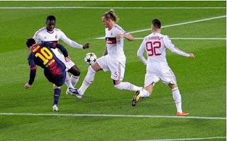Wow, Barcelona Menghajar Milan 4-0 !