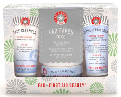 First Aid Beauty, First Aid Beauty FAB Faves To Go Kit, First Aid Beauty FAB Face Cleanser, First Aid Beauty FAB Facial Radiance Pads, First Aid Beauty FAB Ultra Repair Cream