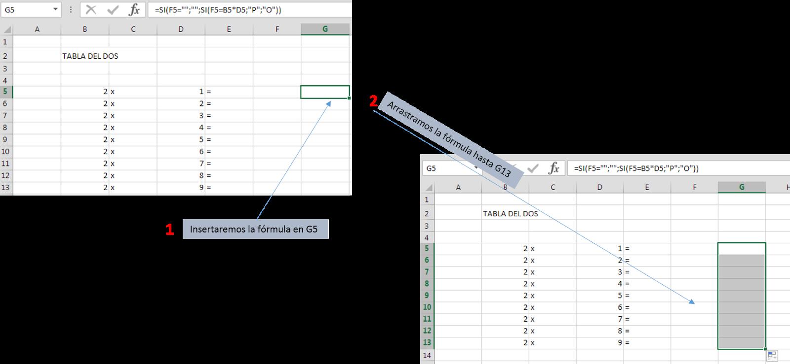 Introducir una fórmula en Microsoft Excel