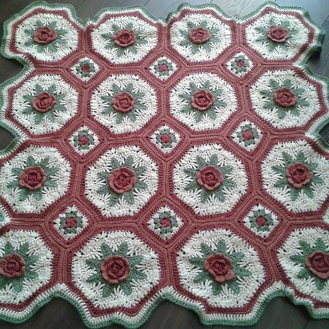 Blanket of Roses Afghan