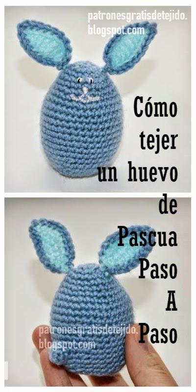 Como tejer conejito huevo de pascua ganchillo