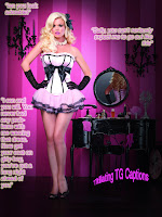 Titillating TG Captions: Forced feminized to be a waitress
