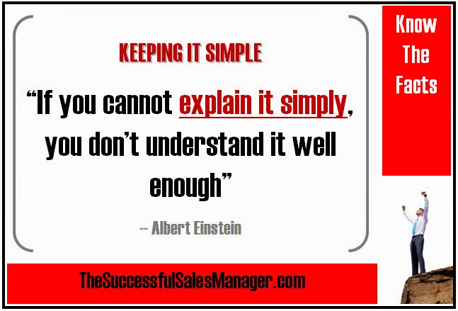 Albert Einstein on keeping it simple