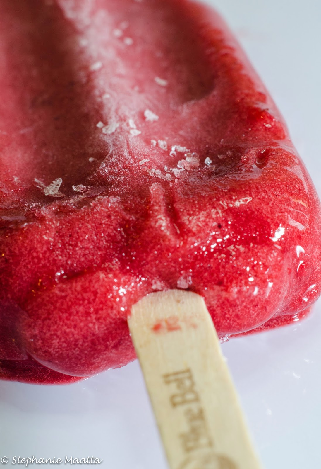 mixed berry popsicle melting