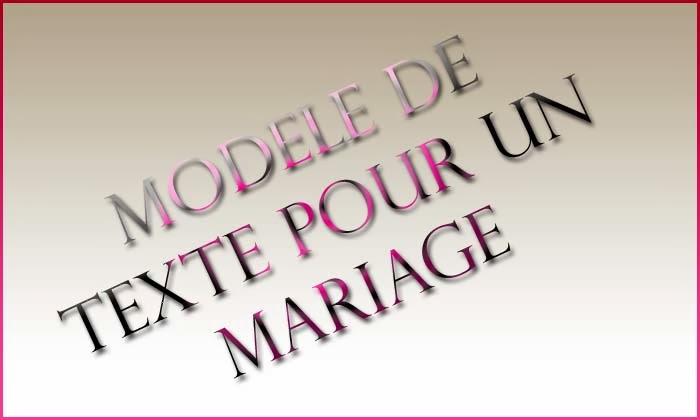 Modele de texte pour un mariage