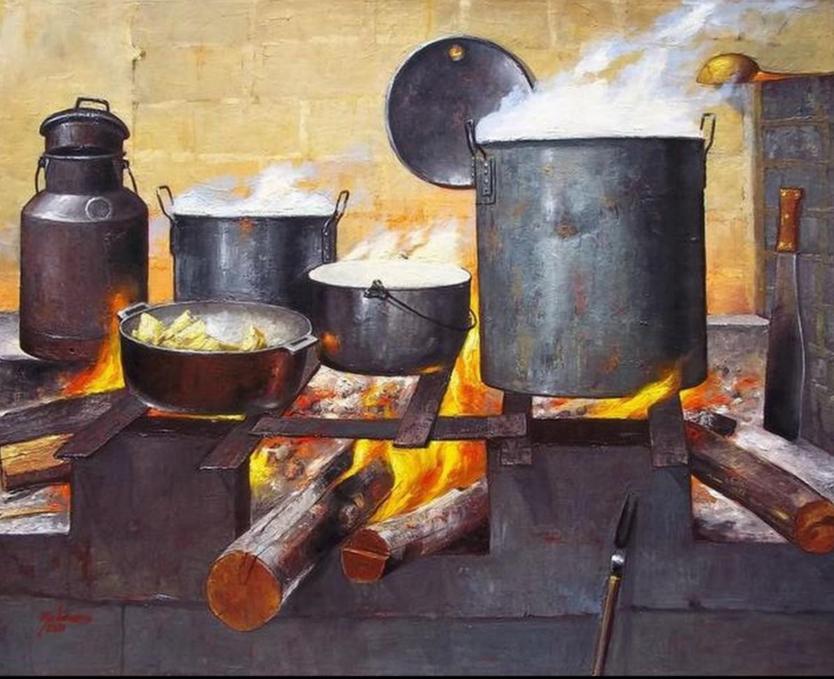 Im genes arte pinturas galer a cocinas oleo - Cocinas antiguas ...