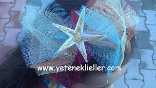 tül keçe deniz yıldızı taç