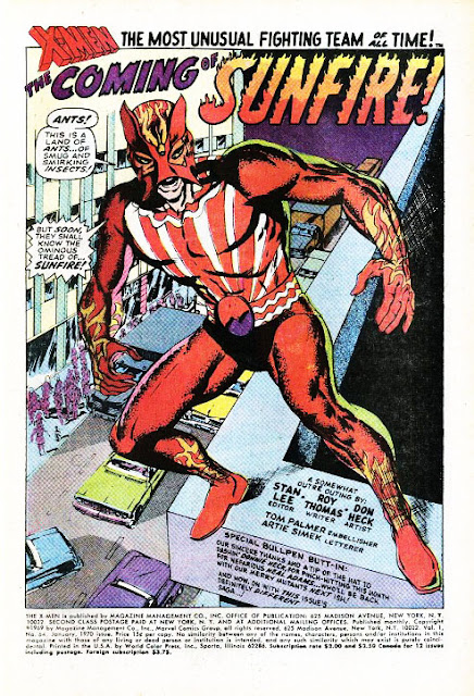 Sunfire first appearance X-Men 64