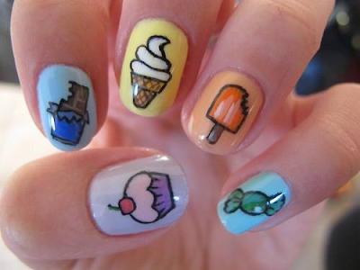 Food Nail Art Designs