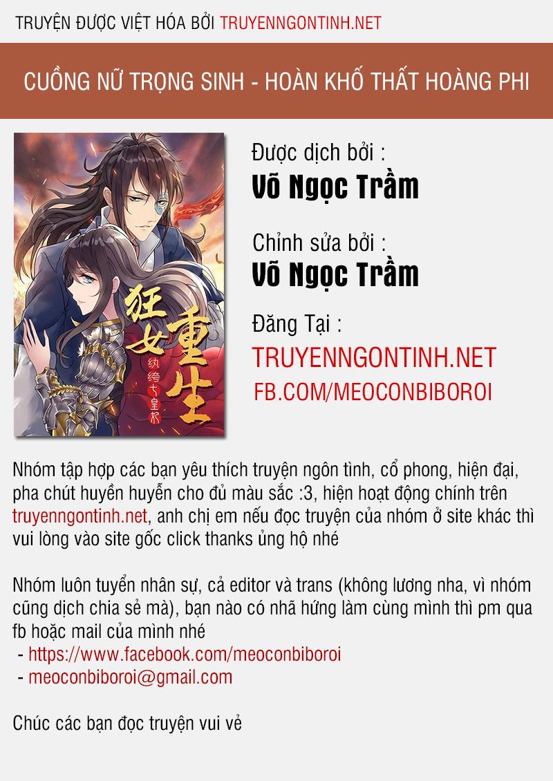 Cuồng Nữ Trọng Sinh - Hoàn Khố Thất Hoàng Phi Chapter 16 - upload bởi truyensieuhay.com