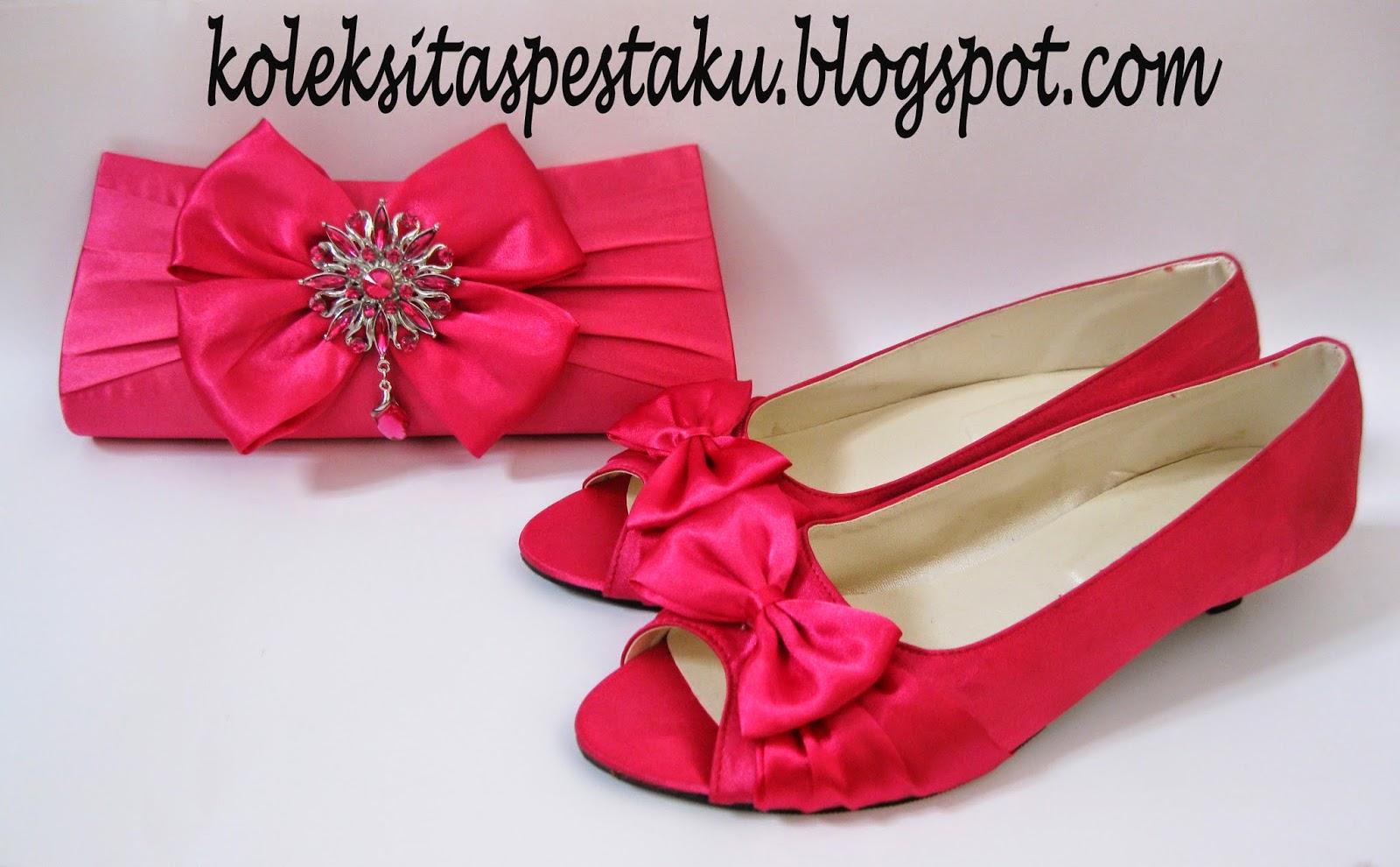 Sepatu Pink Fanta Model Terbaru Cantik Elegant unik dari tas pesta ku