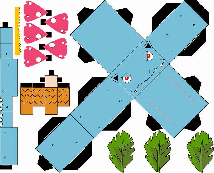 Cubecraft Pokemon Paper Papercraft Bulbasaur IvysaurCubecraft Venusaur