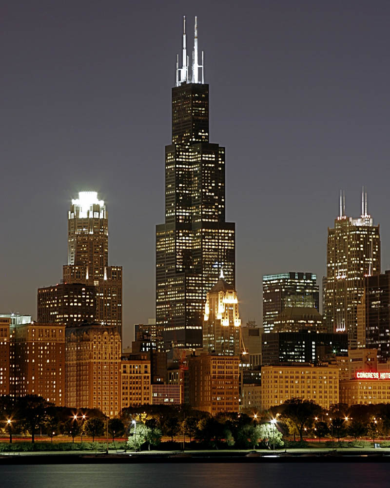 Travel Trip Journey Sears Tower Chicago Usa