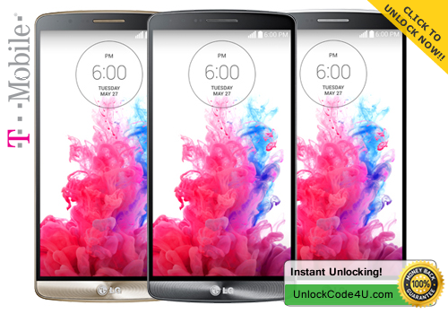 Factory Unlock Code for LG G3 from T-mobile