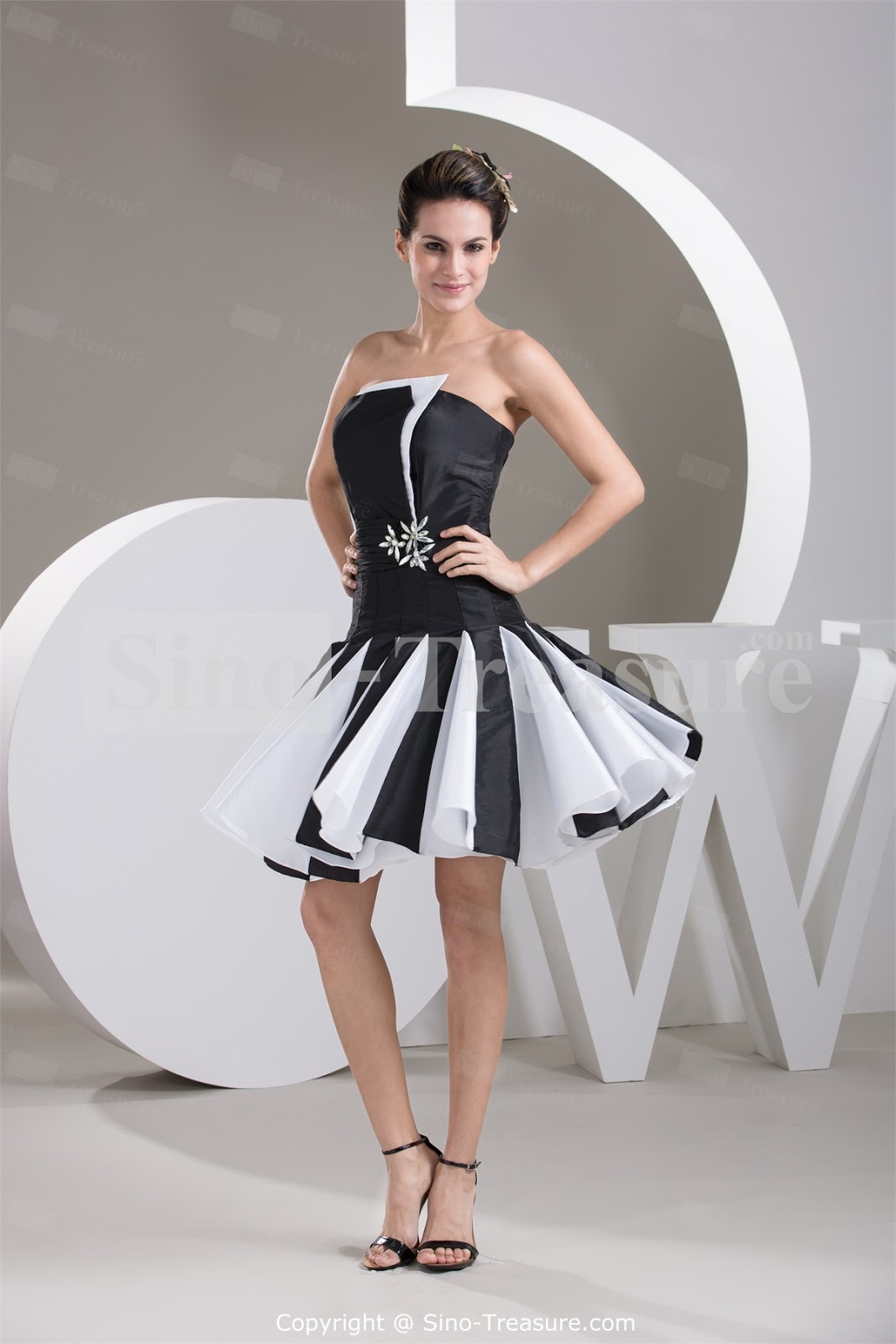 Black and white short wedding dresses ombrellifo Image collections