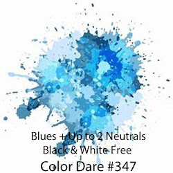 Color Challenge #347 Monochromatic Blues