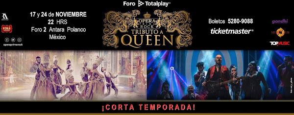OPERA PRIMA ROCK 17 Y 24 DE NOVIEMBRE FORO 2 TOTAL PLAY ANTARA www.ticketmaster.com.mx