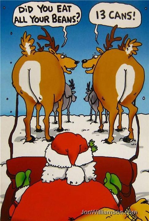 Funny Christmas Cartoon Reindeer Daily Vowel Movements