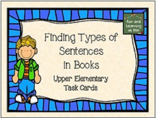 https://www.teacherspayteachers.com/Product/Finding-Types-of-Sentences-in-Books-Freebie-1674934