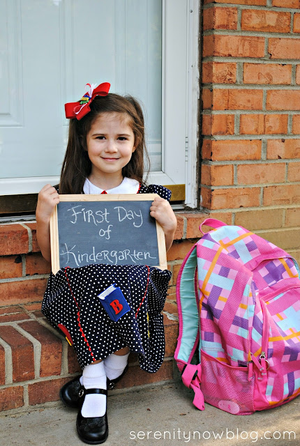 Kindergarten Back to School Pics, from Serenity Now