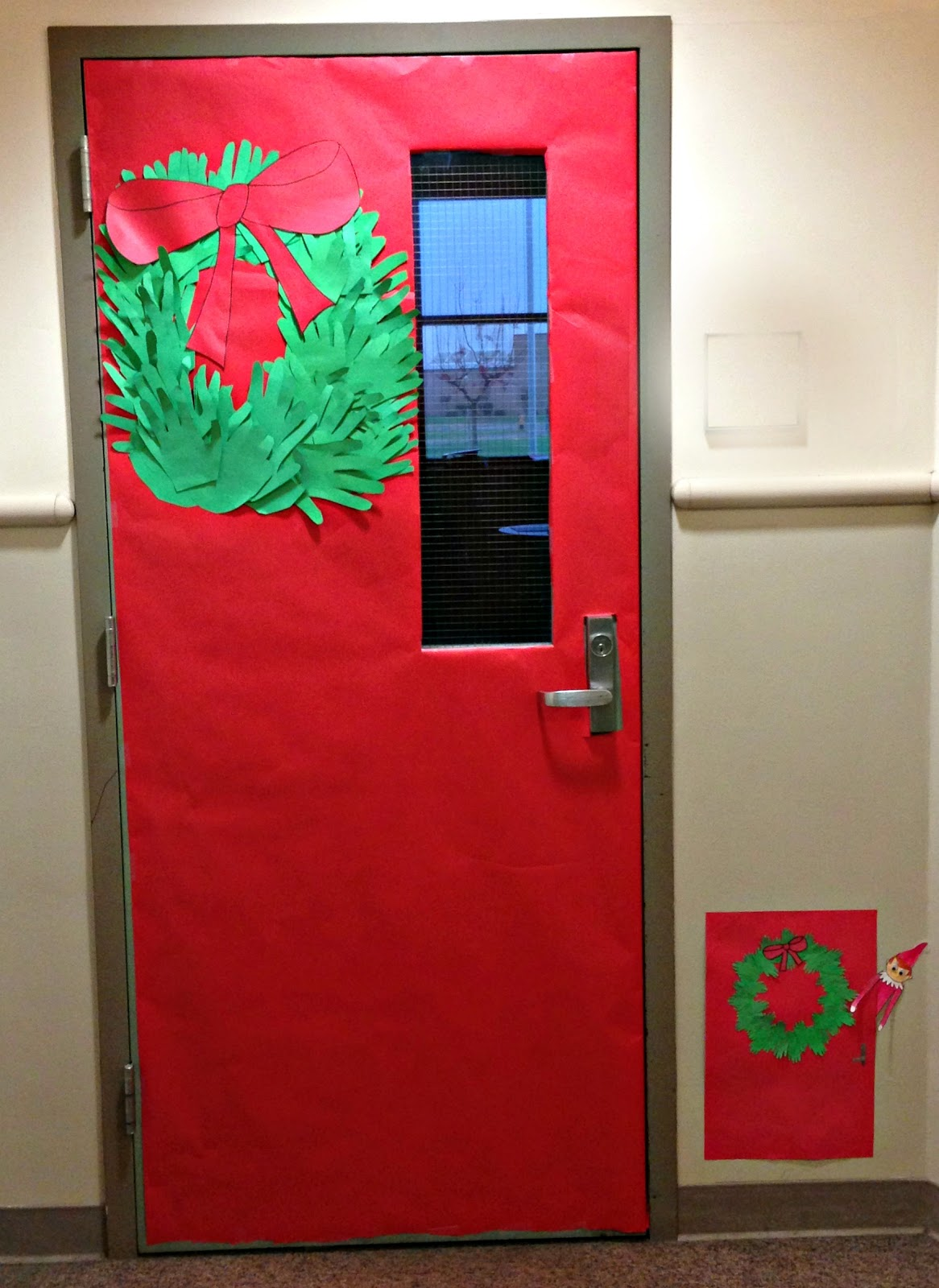All things katie marie elf on the shelf in the classroom for Elf door ideas