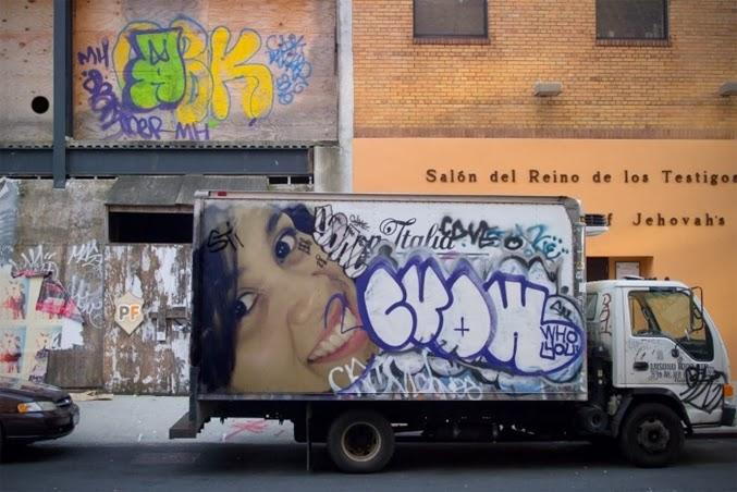 montagem foto com grafite