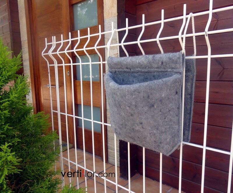 Jardinera Textil Colgante Vertiflor - Jardinera-colgante