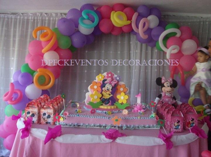 Ornamentacion de cumpleaños de Minnie - Imagui