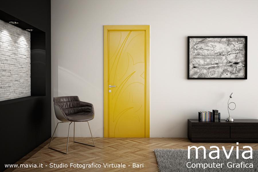 Arredamento di interni: Porte 3d - modelli 3d porte per interni a battente e ...
