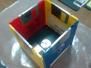 Repurposed Floppy Disk Box