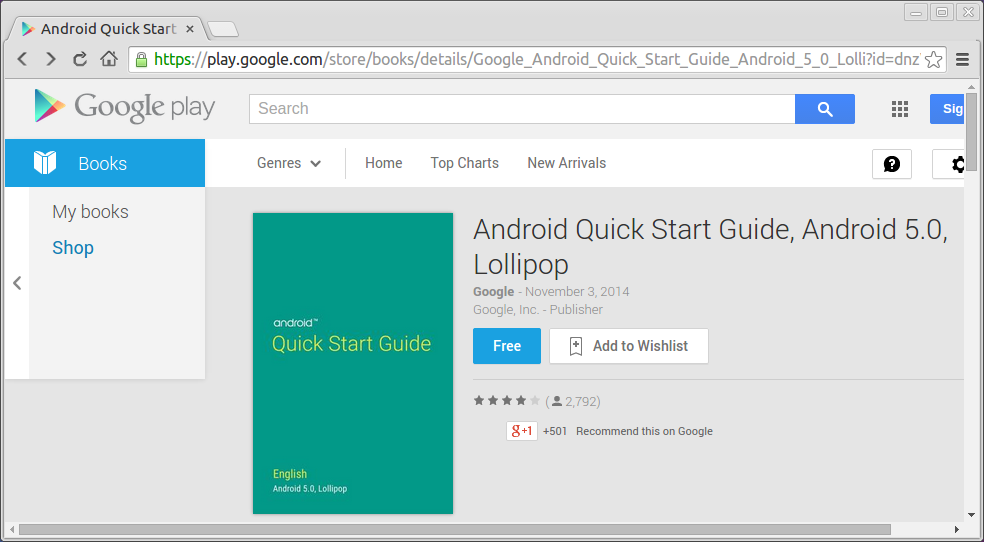 Free Android Quick Starting Fourth Dimension Guide, Android 5.0, Lollipop, Past Times Google