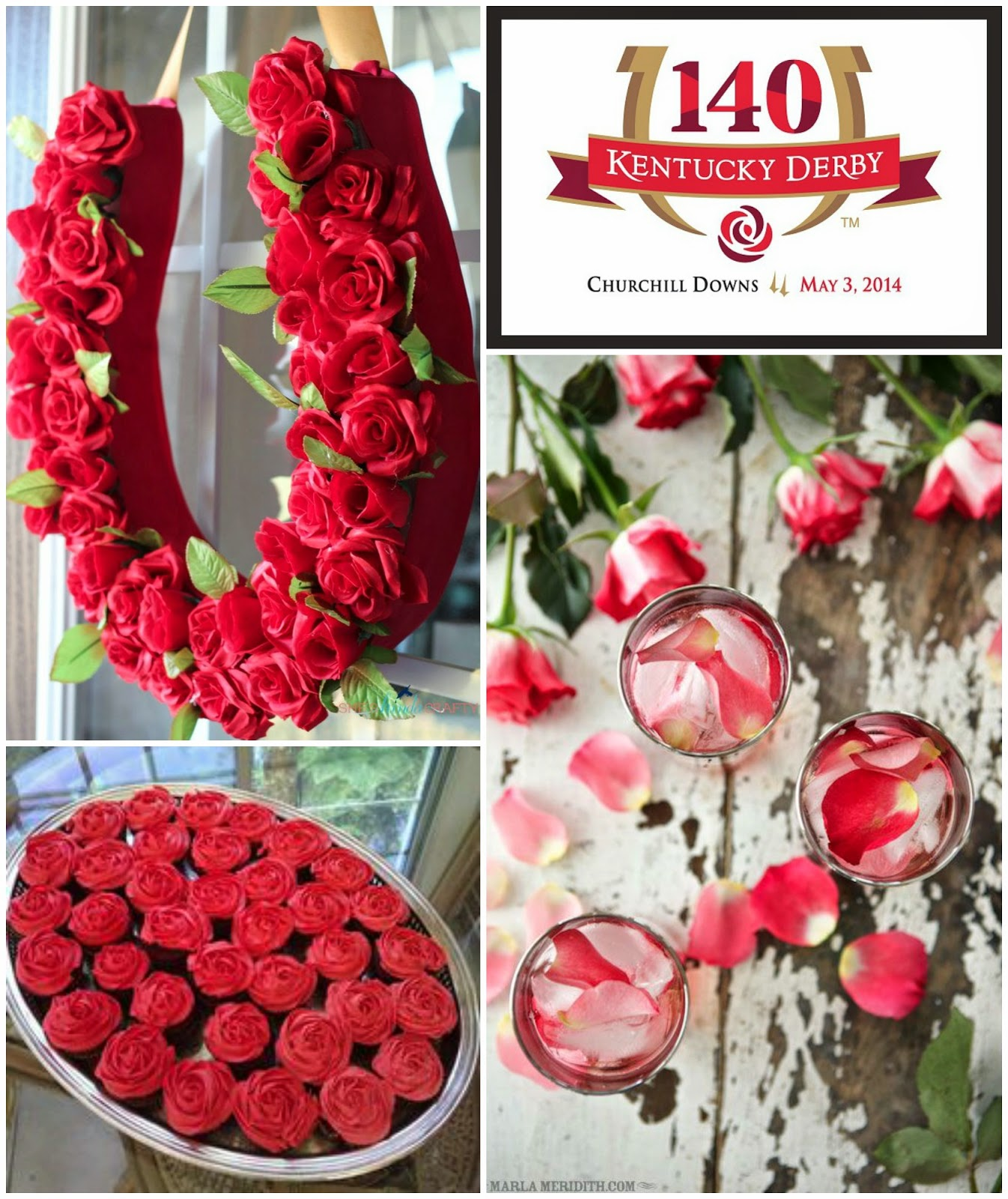... Your Derby Hat, To Entry Gate Or Door Decor With A Red Rose Horseshoe  Derby Wreath, And Even Derby Desserts Such As Red Rose Chocolate Cupcakes U2013  Served ...