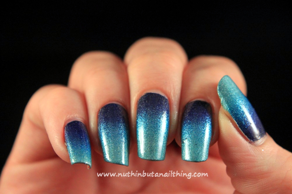 Nuthin But A Nail Thing Blue Gradient Nail Art