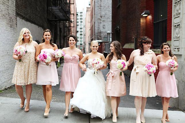 The Secrets of Successful Mismatched Bridesmaids