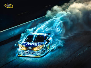 Nascar Sprint Racing Chevrolet Blue Flames Around Design HD Wallpaper