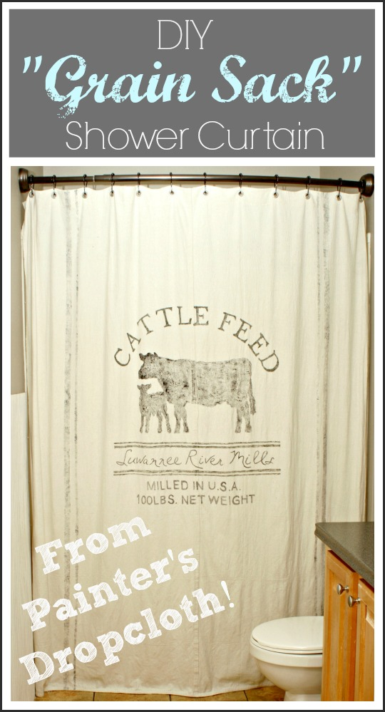 The Cozy Old Quot Farmhouse Quot Painter S Dropcloth Becomes Diy