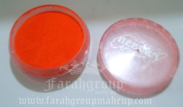 maquillaje, pigmentos naranjas