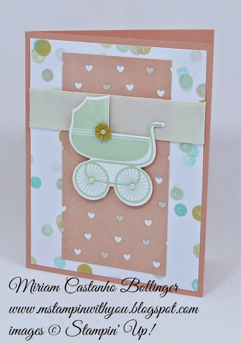 Miriam Castanho Bollinger, #mstampinwithyou, stampin up, demonstrator, mm 381, lullaby dsp, something for baby bundle, baby card, su