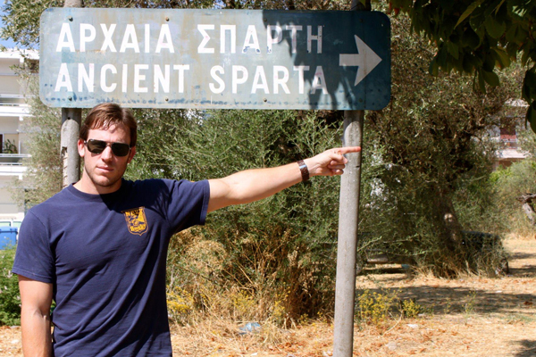 Visiting ancient Sparta