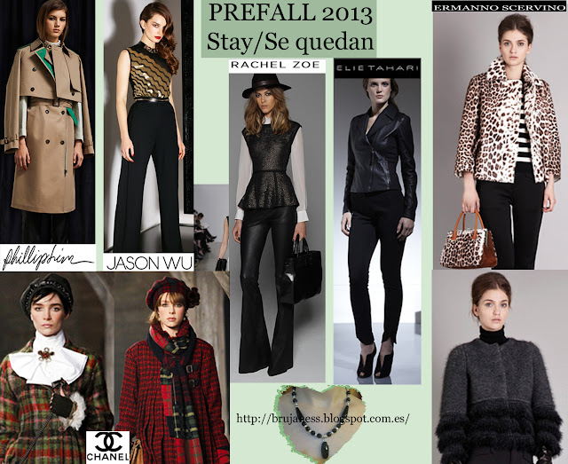 Chanel Burberry Michael Kors calvin klein elie tahari phillip leen prefall new trends nuevas tendencias prefall otoño fall 2013 colours colores jason wu, rachel zoe, ermanno scervino