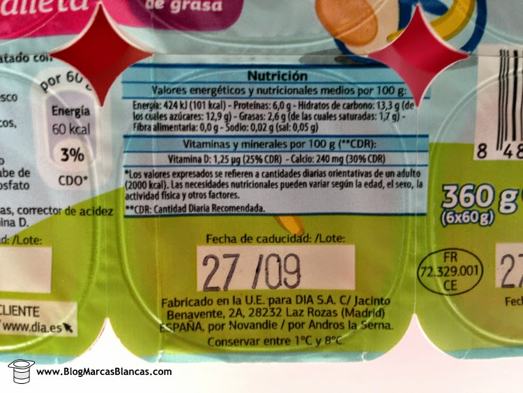 Información nutricional sobre los Petit suisse mix (fresa, fresa-plátano, fresa-galleta) DIA.
