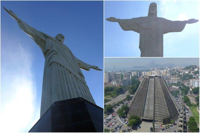 Cristo Redentor en el Cerro de Corcovado, Catedral Metropolitana en Río de Janeiro