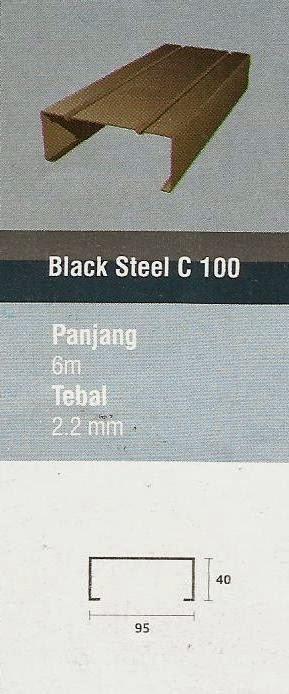 IGGI TRUSS BLACK STEEL C 100 - JUAL RANGKA ATAP BAJA RINGAN