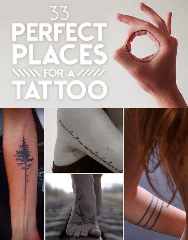 33 perfect places for a tattoo the idea king
