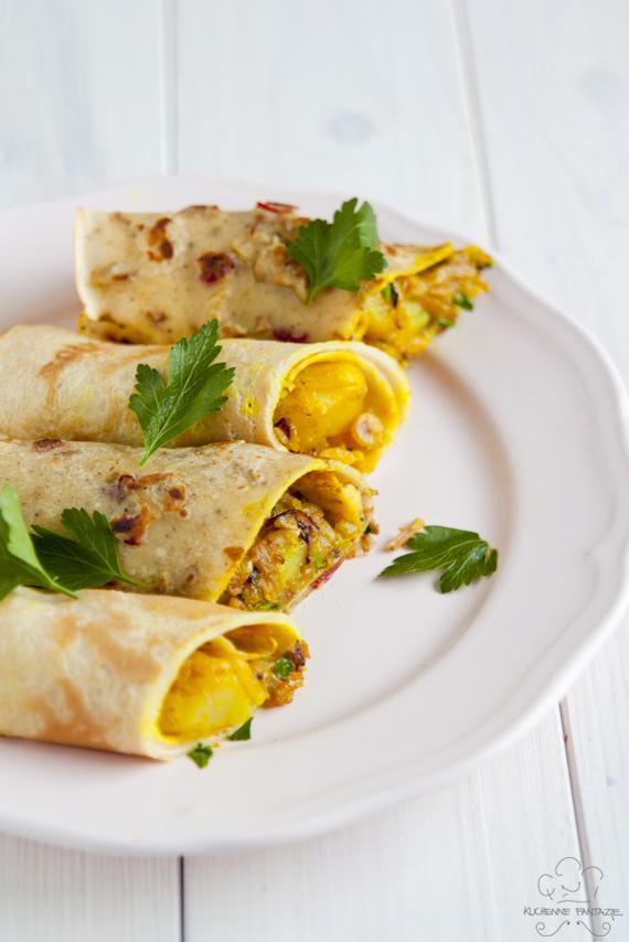naleśniki, kuchnia indyjska, gordon ramsay, gordon ramsay przepisy, naleśniki przepisy, kuchnia indyjska przepisy, naleśniki z farszem, faszerowane, pikantne naleśniki