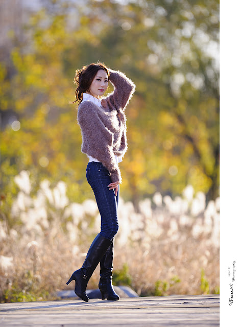 Eun Bin Outside Photoshoot