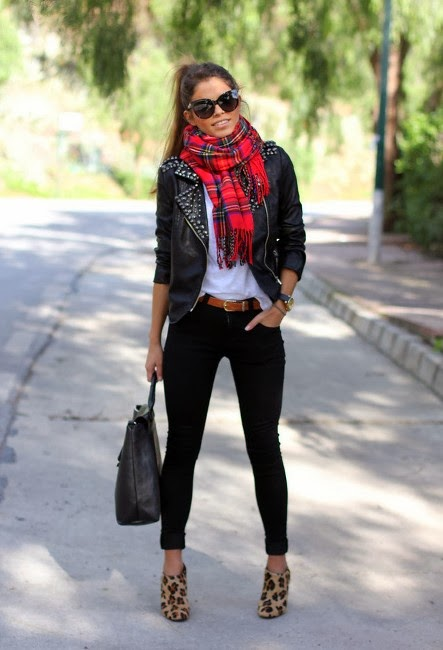 Stunning Style with Tartan Scarves and Zara Boots